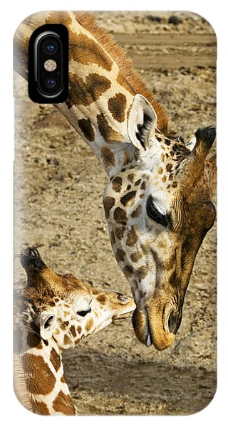 Babies iPhone Case - Mother Giraffe With Her Baby by Garry Gay