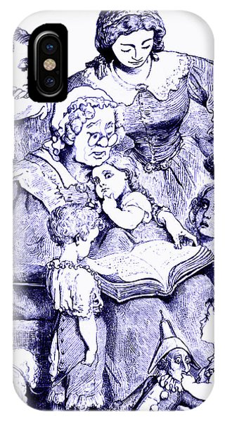 Vintage Mother Goose Reading To Children IPhone Case