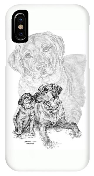 Mother Labrador Dog And Puppy IPhone Case
