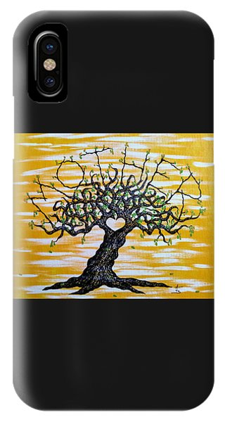 IPhone Case featuring the drawing Mother Love Tree by Aaron Bombalicki
