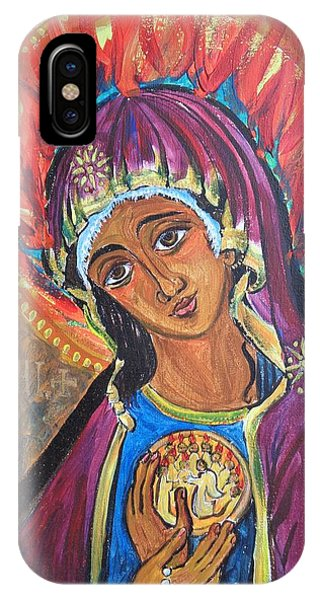 Mother Mary Of Pentecost IPhone Case