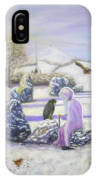 Mother Of Air Goddess Danu - Winter Solstice IPhone Case