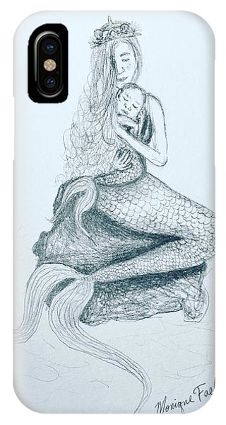 Motherhood Mermaid IPhone Case