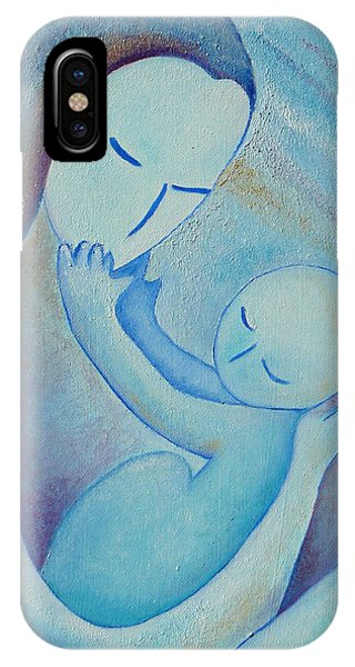 Motherhood Oil Painting Your Little Hands By Gioia Albano IPhone Case