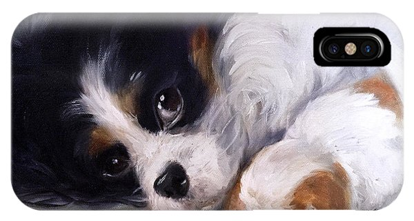 King Charles iPhone Case - Mother's Day by Mary Sparrow