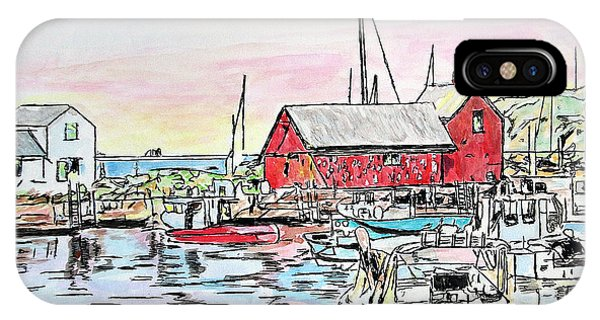 Motif #1 Rockport, Massachusetts IPhone Case