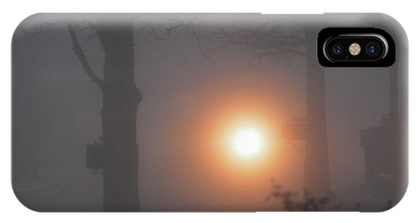 Motorcycle In The Fog In Loganville Georgia IPhone Case