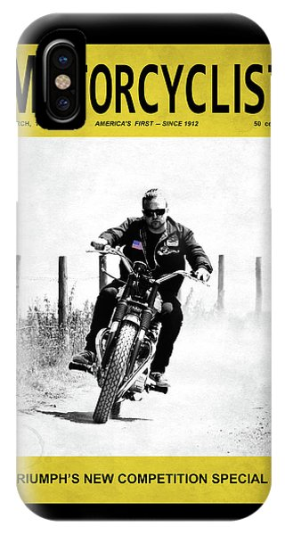 Magazine Cover iPhone Case - Motorcycle Magazine Competition Special 1967 by Mark Rogan