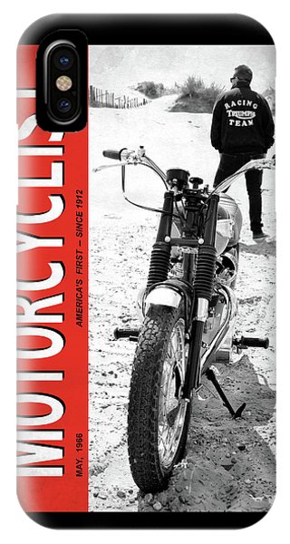 Magazine Cover iPhone Case - Motorcycle Magazine Desert Racing 1966 by Mark Rogan