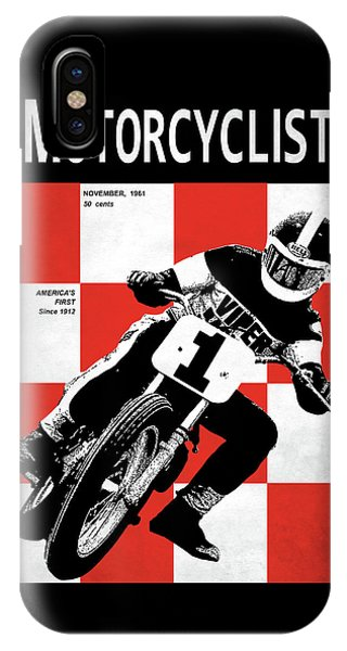 Magazine Cover iPhone Case - Motorcycle Magazine Number One 1961 by Mark Rogan