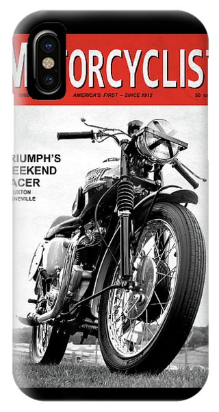 Magazine Cover iPhone Case - Motorcycle Magazine Weekend Racer 1960 by Mark Rogan