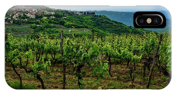 Motovun And Vineyards - Istrian Hill Town, Croatia IPhone Case