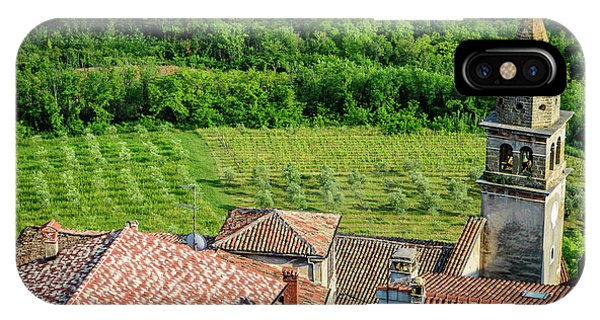Motovun Istrian Hill Town - A View From The Ramparts, Istria, Croatia IPhone Case