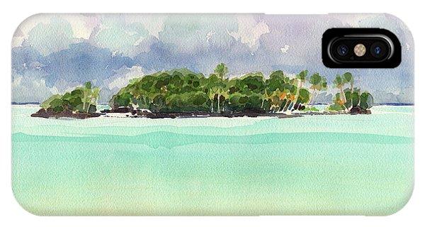 Motu Rapota, Aitutaki, Cook Islands, South Pacific IPhone Case