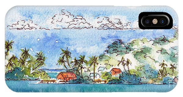 Motu Toopua Bora Bora IPhone Case