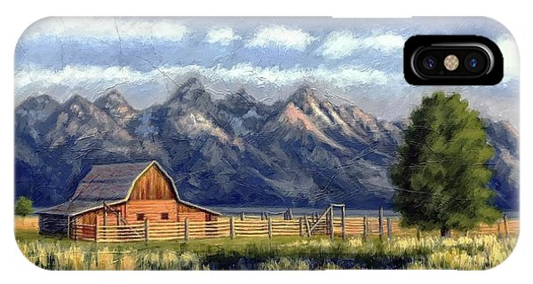 Moulton Barn At The Grand Tetons IPhone Case