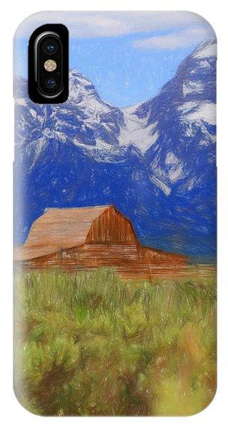 Moulton Barn Color Sketch IPhone Case