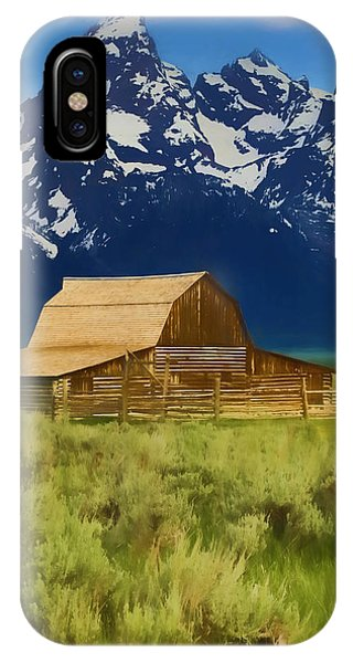 Moulton Barn In Spring IPhone Case