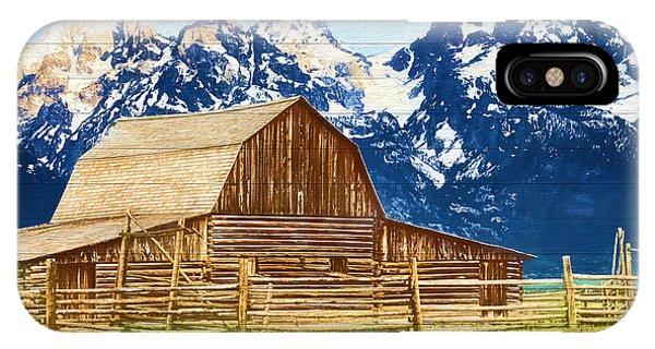 Moulton Barn Wood Panels IPhone Case