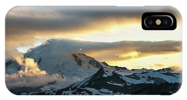 Mount Baker Cloudscape Sunset Panorama IPhone Case
