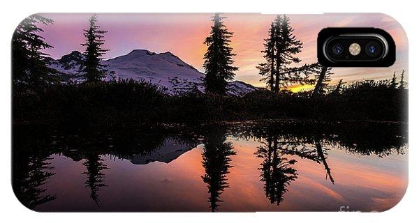 Mount Baker Sunrise Reflection IPhone Case