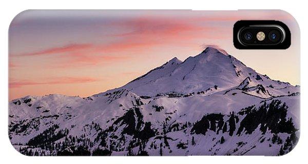 Mount Baker Sunset Panorama IPhone Case