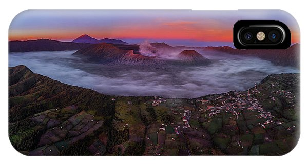 Mount Bromo Misty Sunrise IPhone Case