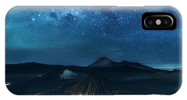 Mount Bromo Resting Under Million Stars IPhone Case