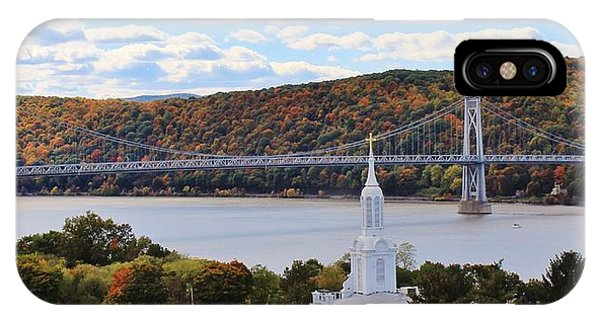Mount Carmel And The Mid Hudson Bridge IPhone Case