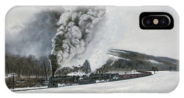 Trains iPhone Case - Mount Carmel Eruption by David Mittner