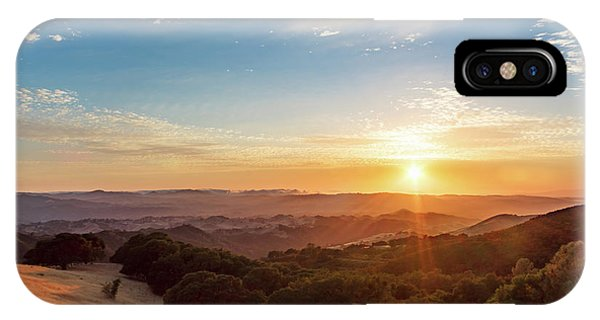 Mount Diablo Sunset IPhone Case