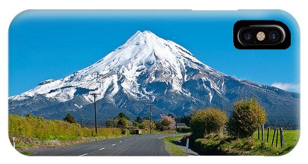 Mount Egmont Taranaki New Zealand IPhone Case