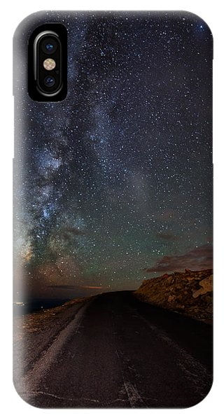 Fourteener iPhone Case - Mount Evans Road To The Milky Way by Mike Berenson