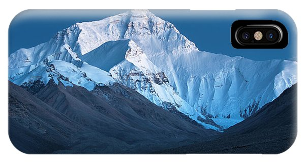 Mount Everest At Blue Hour, Rongbuk, 2007 IPhone Case