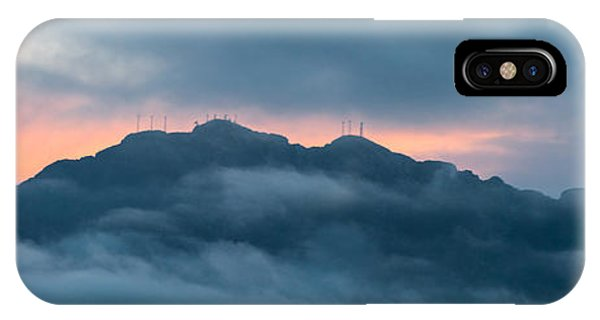 Mount Franklin Stormy Winter Sunset Pano IPhone Case