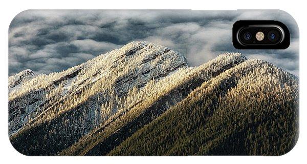 Mount Higgins Clouds IPhone Case