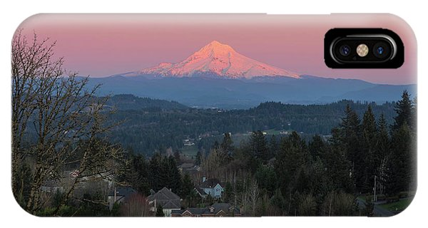 iPhone Case - Mount Hood Over Happy Valley Oregon by David Gn