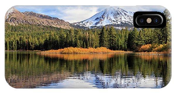 Mount Lassen Reflections Panorama IPhone Case