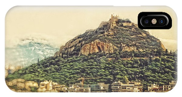 Greece iPhone Case - Mount Lycabettus by HD Connelly