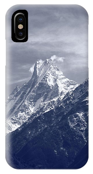 Mount Machapuchare, The Himalayas, Nepal IPhone Case