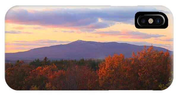 Mount Monadnock Autumn Sunset IPhone Case