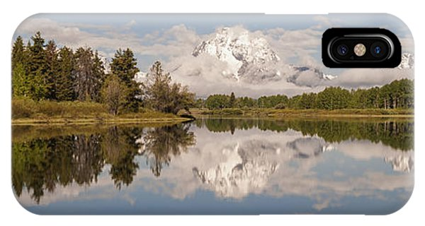 Rocky Mountain Np iPhone Case - Mount Moran On Oxbow Bend Panorama by Brian Harig