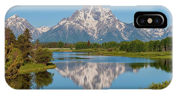 Rocky Mountain iPhone Case - Mount Moran On Snake River Landscape by Brian Harig