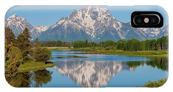 Teton iPhone Case - Mount Moran On Snake River Landscape by Brian Harig