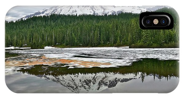 Mount Rainier From Reflection Lakes IPhone Case