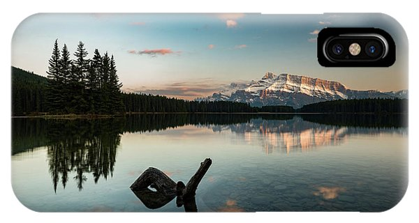 Mount Rundle And Two Jack Lake IPhone Case