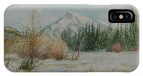 Mount Rundle In Winter IPhone Case