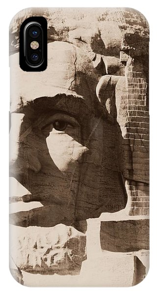 Mount Rushmore Faces Lincoln IPhone Case