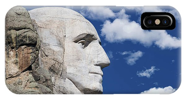 George Washington iPhone Case - Mount Rushmore Profile Of George Washington by Tom Mc Nemar