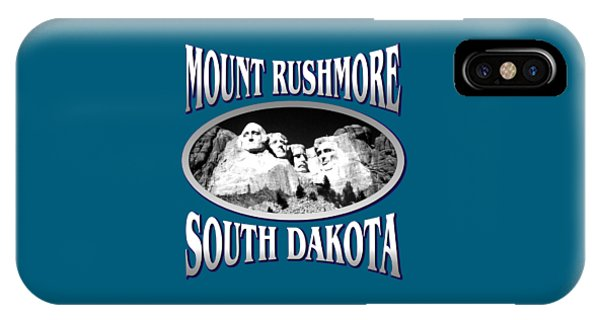 Sports Clothing iPhone Case - Mount Rushmore South Dakota Design by Peter Potter